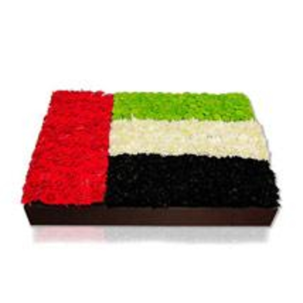 UAE floral flag with flowers